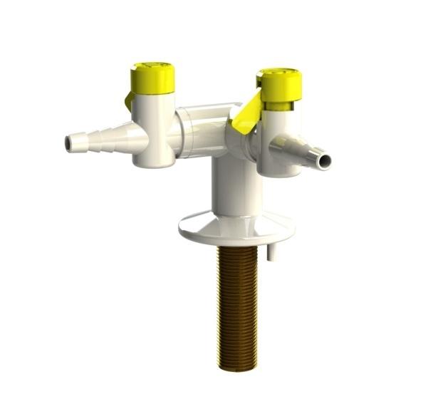 2 way bench mounted gas tap