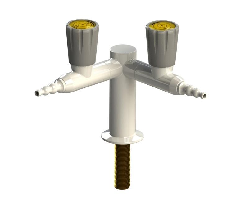 Arboles UK - 2 Way Bench Mounted Push Turn Gas Tap - 900303NG