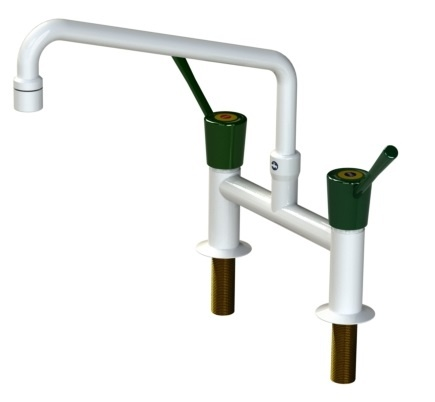 H Pattern Mixer Tap With Lever Action and Aerator Nozzle