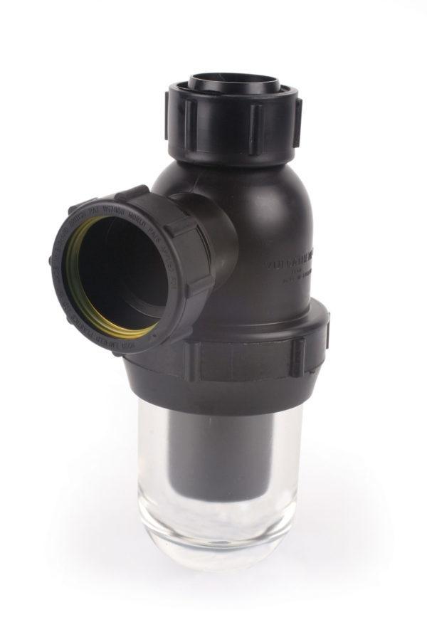 Durapipe Vulcathene Anti Siphon Bottle Trap With Glass Base