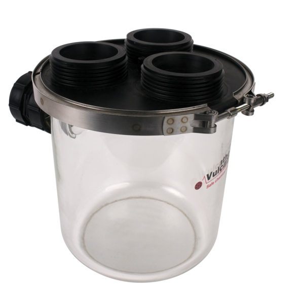 Durapipe Vulcathene 4.5l Dilution Recovery Trap with Glass Base