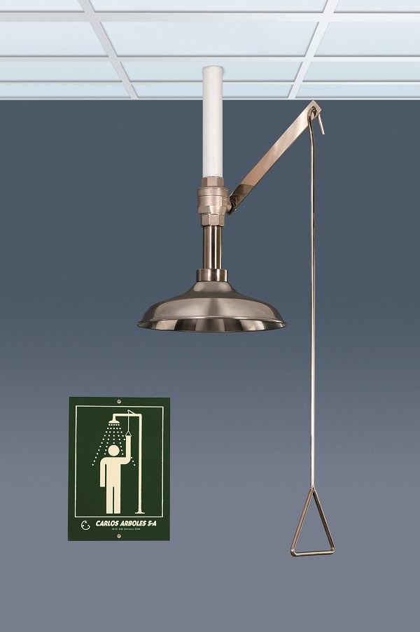 STAINLESS STEEL CEILING MOUNTED EMERGENCY SHOWER