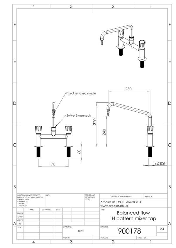 Arboles UK - 900178 - Laboratory Mixer Tap