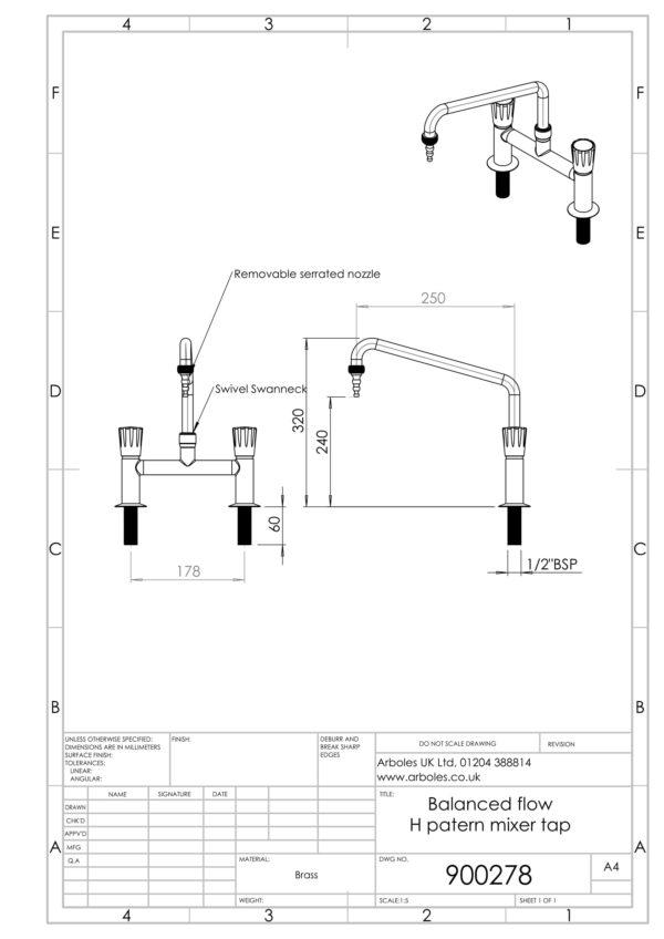 Arboles UK - 900278 - Laboratory Mixer Tap