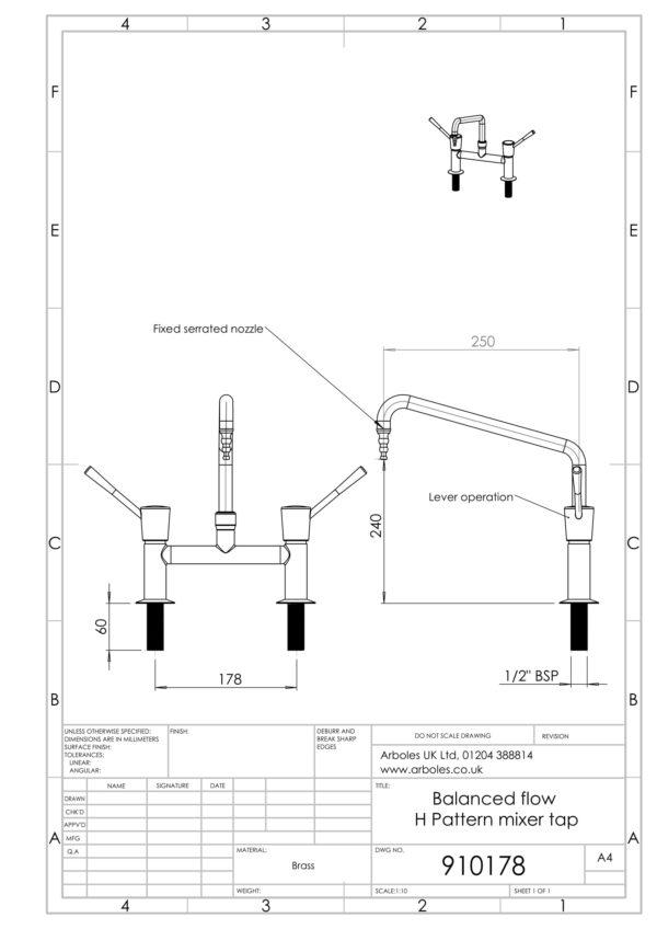 Arboles UK - 910178 - Wrist Action Laboratory Tap