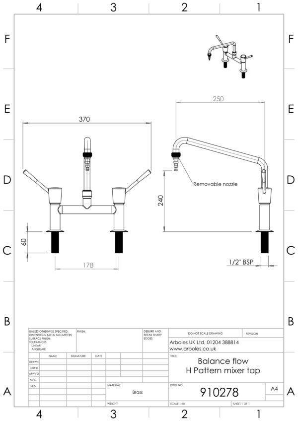 Arboles UK - 910278 - Wrist Action Laboratory Tap
