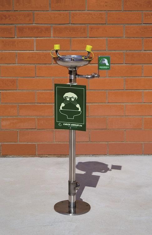 floor mounted eyewash station
