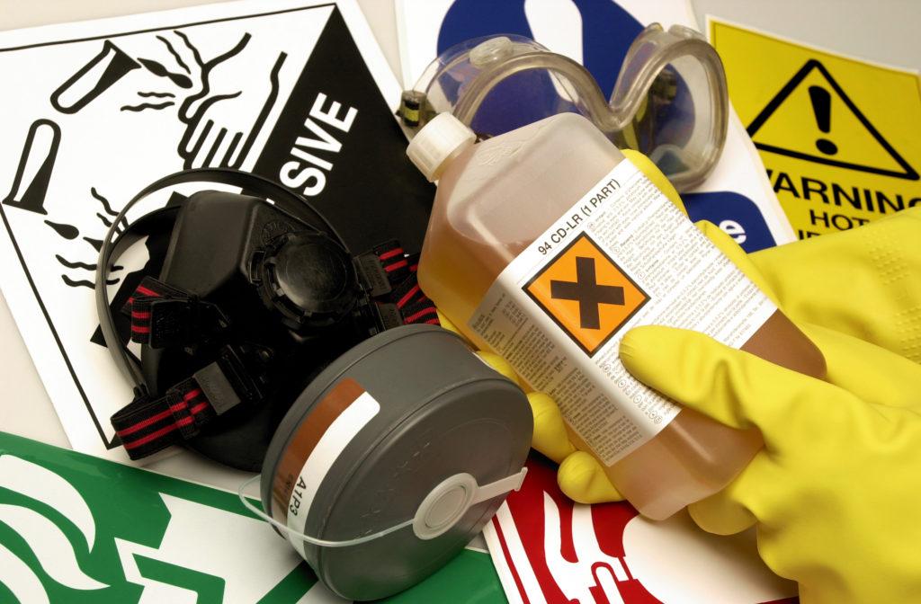 read label on hazardous chemical product