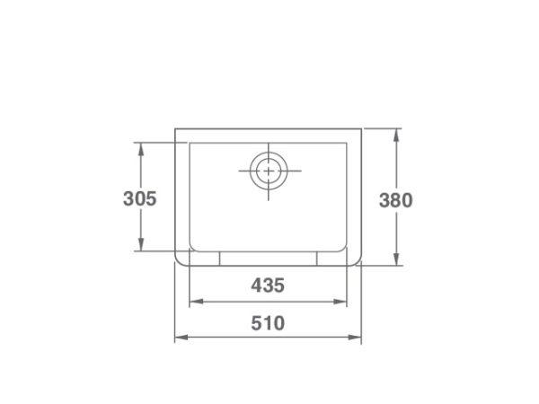 Arboles UK - Cl0100010 - Cleaner Sink - Dimensions