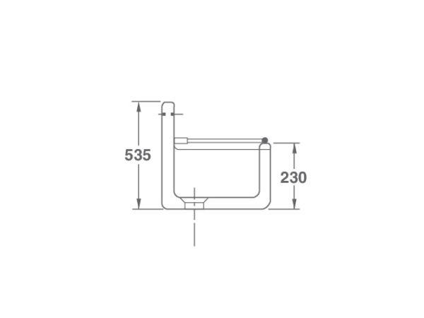 Arboles UK - Cl0100010 - Cleaner Sink - Side Dimensions