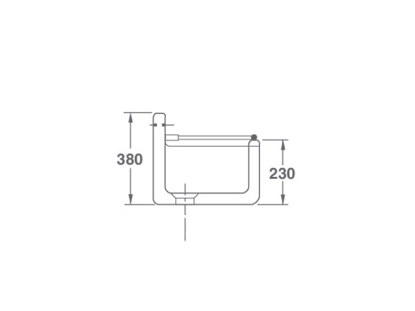Arboles UK - Cl0200010 - Cleaner Sink - Side Dimensions