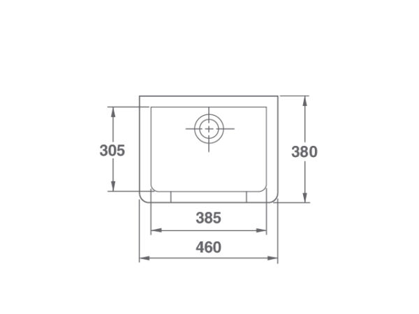 Arboles UK - Cl0300010 - Cleaner - Sink Dimensions