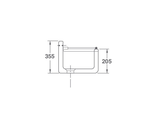 Arboles UK - Cl0300010 - Cleaner Sink Side - Dimensions