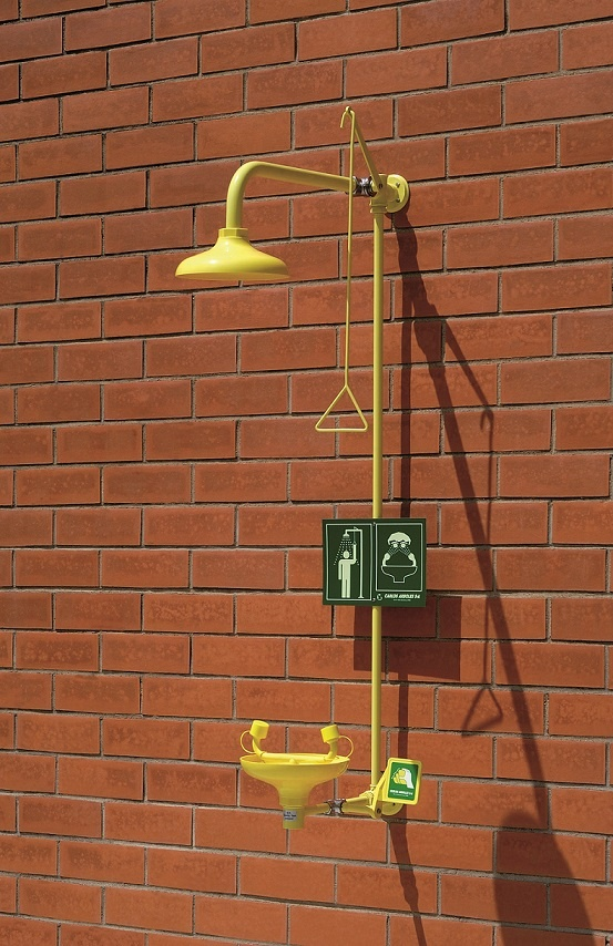 Wall Mounted Emergency Shower With Eyewash