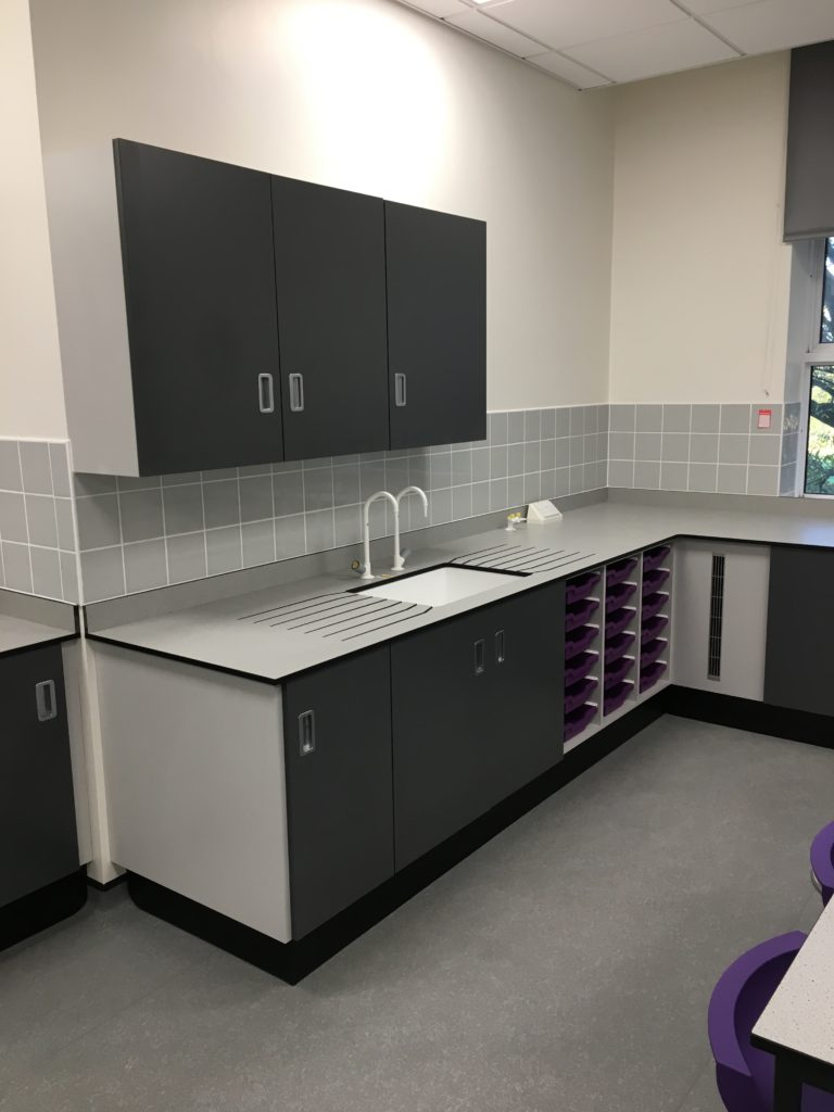 A completed laboratory featuring a product set from Arboles UK.