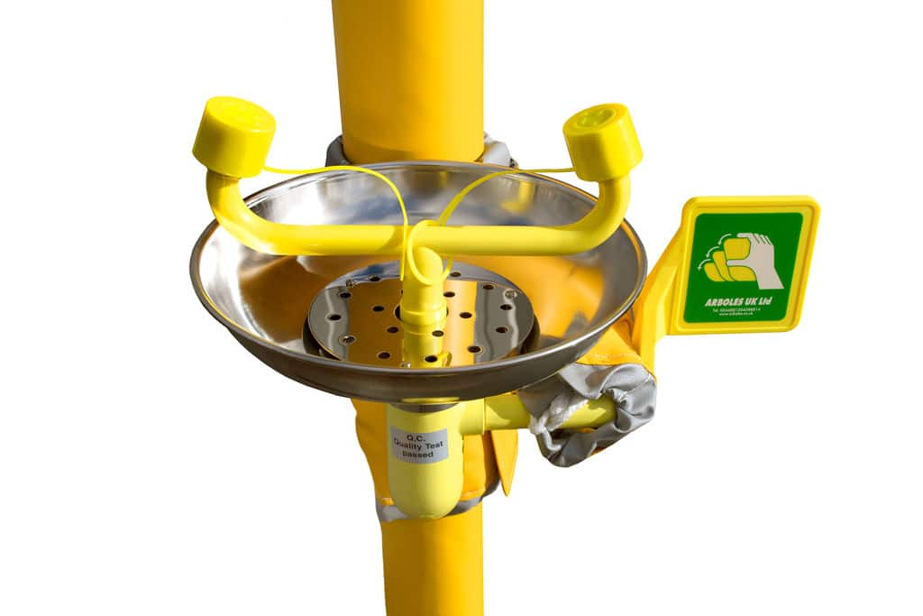 A trace heated and insulated solution for outdoor emergency shower and eyewash usage