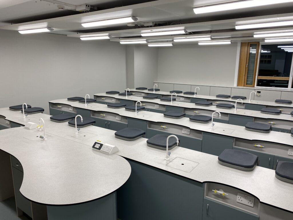 A School Laboratory Featuring Arboles UK Laboratory Taps